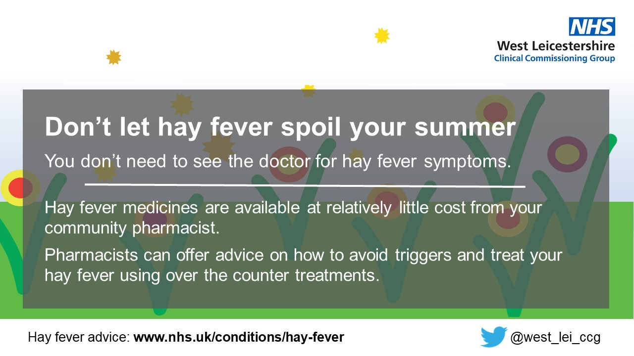 Hay fever screen slide for GPs June 2019